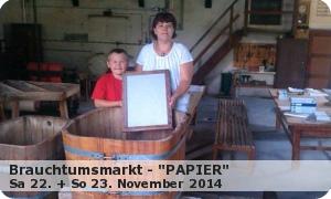 """Brauchtumsmarkt 2014″Papier"""""""