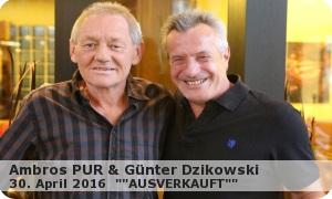 AMBROS PUR – Konzert – Wolfgang Ambros & Günter Dzikowski 2016