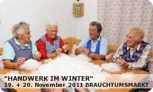 """Brauchtumsmarkt """"Handwerk im Winter"""""""