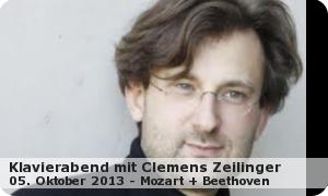 """Klavierabend mit Clemens Zeilinger """" Mozart und Beethoven"""""""