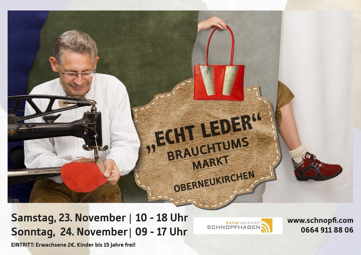 """Brauchtumsmarkt """" Echt Leder"""""""