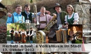 """Volksmusik im Stadl """"Herbstl´n tuat´s"""""""